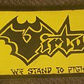 Virtue - Patch - Virtue we stand to fight black border strip patch