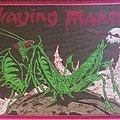 Praying Mantis - Patch - Praying mantis purple border patch