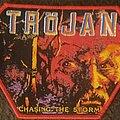 Tröjan - Patch - Trojan chasing the storm patch red border
