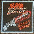Blood Money - Patch - Blood money red raw and bleeding blue border patch