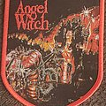 Angel Witch - Patch - Angel witch frontal assault shield red border patch