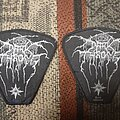 Darkthrone - Patch - Darkthrone peaceville logo patches blue and white copyright
