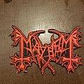 Mayhem - Patch - Mayhem logo cut red and black patch.