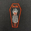 Power From Hell - Patch - Power From Hell - Blackened. Brazilian. Bastards. coffin shaped patch