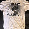 "Don Rock - TShirt or Longsleeve - Early 90s Terror Worldwide ""I Blame Society"" Shirt"