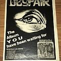 Despair - History Of Hate - Century Media Records - Advertisement Other Collectable