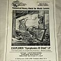 Exxplorer - Symphonies Of Steel Advertisement  Other Collectable