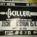 Killer / Bad Steve - Heavy Metal Concert 1985 - Poster Other Collectable