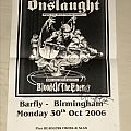 Onslaught - Concert Poster and Advertisement Other Collectable
