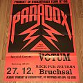 Paradox - Product Of Imagination Tour 87 / 88 - Poster