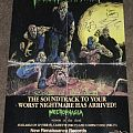 Necrophagia - Season of the Dead Promo Poster signed