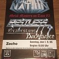 Restless / Gravestone / Backwater - Metal Masters On Tour 85 - Concert Poster Other Collectable