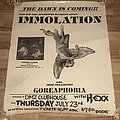 Immolation - Dawn of Possession - North American Tour 1991 - Promotional Poster