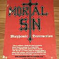 Mortal Sin - Other Collectable - Mortal Sin - Advertisements + Poster