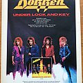 Dokken - Other Collectable - Dokken - Under Lock and Key Advertisement + Poster