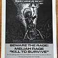 Meliah Rage - Other Collectable - Meliah Rage - Poster Collection