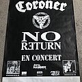 Coroner - Other Collectable - Coroner - No Return - French Concert Poster - 1992