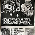 Death - Other Collectable - Death / Despair - Winter Tour '89 - Poster