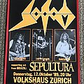 Sodom - Other Collectable - Sodom - Sepultura - Agent Orange Tour - Swiss Concert Poster - 1989