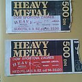Heavy Metal Festival 1982 tickets Other Collectable