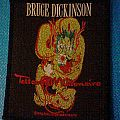 bruce dickinson tatto millionaire woven patch vintage