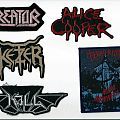 Patch - Kill, Alice Cooper, Terrorizer, Ketzer & Kreator Patches