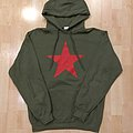 Rage Against The Machine - Hooded Top - RATM red star olive hood