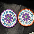 Red Hot Chili Peppers - Patch - Red Hot Chili Peppers 1993 sperm logo patch border variations