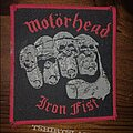 Motörhead - Patch - Wanted Iron Fist patch RB