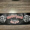 Motörhead - Patch - Iron fist leather strip