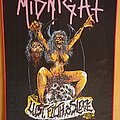 Midnight - Patch - Midnight backpatch Lust filth & sleaze red border
