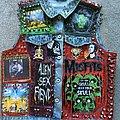 Misfits - Battle Jacket - Women's Studded Punk Goth Rock Denim Jacket Size UK 12