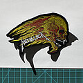 Metallica - Patch - Metallica - flaming skull shaped patch