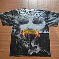 Benediction - TShirt or Longsleeve - Vintage Benediction 'Dark is The Season' album cover all over 1992
