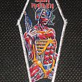 Iron Maiden - Somewhere in Time Coffin (silver borders) Patch