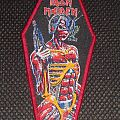 Iron Maiden - Somewhere in Time Coffin (red borders) Patch