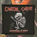 Cannibal Corpse - Patch - Cannibal Corpes - Butchered at Birth 1992 Blue Grape Merch.