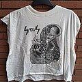 """Sadus - TShirt or Longsleeve - SADUS """"Illusions"""" sleeveless white shirt, size XL !!"""