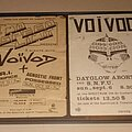 Voivod - Other Collectable - Voivod original 1980's show flyers
