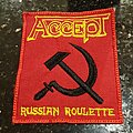 Accept - Patch - Accept - Russian Roulette - Embroidered Patch from 80's