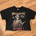 Megadeth - TShirt or Longsleeve - Megadeth So Far, So Good, So What cropped tee