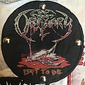 Obituary - Patch - Obituary Left to Die round patch