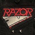 Razor - Patch - Razor logo patch with bloody blade