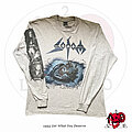 "Sodom - TShirt or Longsleeve - ©1990 Sodom - ""Get What You Deserve"" Longsleeve Shirt (Grey Version)"