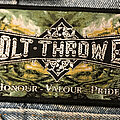 Bolt Thrower - Patch - Bolt Thrower Honor Valor Pride strip patch