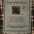 "Days Of The New - Other Collectable - Days of the New ""Green"" Album Promotional Handbill 1999"