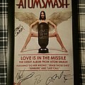 "Atomsmash - Other Collectable - Atomsmash ""Love Is In The Missle"" Promotional Poster Signed 2010"