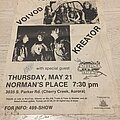 Voi  Vod - Other Collectable - Voi Vod Kreator Satans Host 1987 Gig Poster