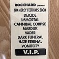 Deicide - Other Collectable - No Mercy Festival 2000 VIP PASS
