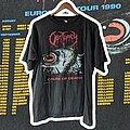 Obituary - TShirt or Longsleeve - 1990 Obituary Cause of Death European Tour XL